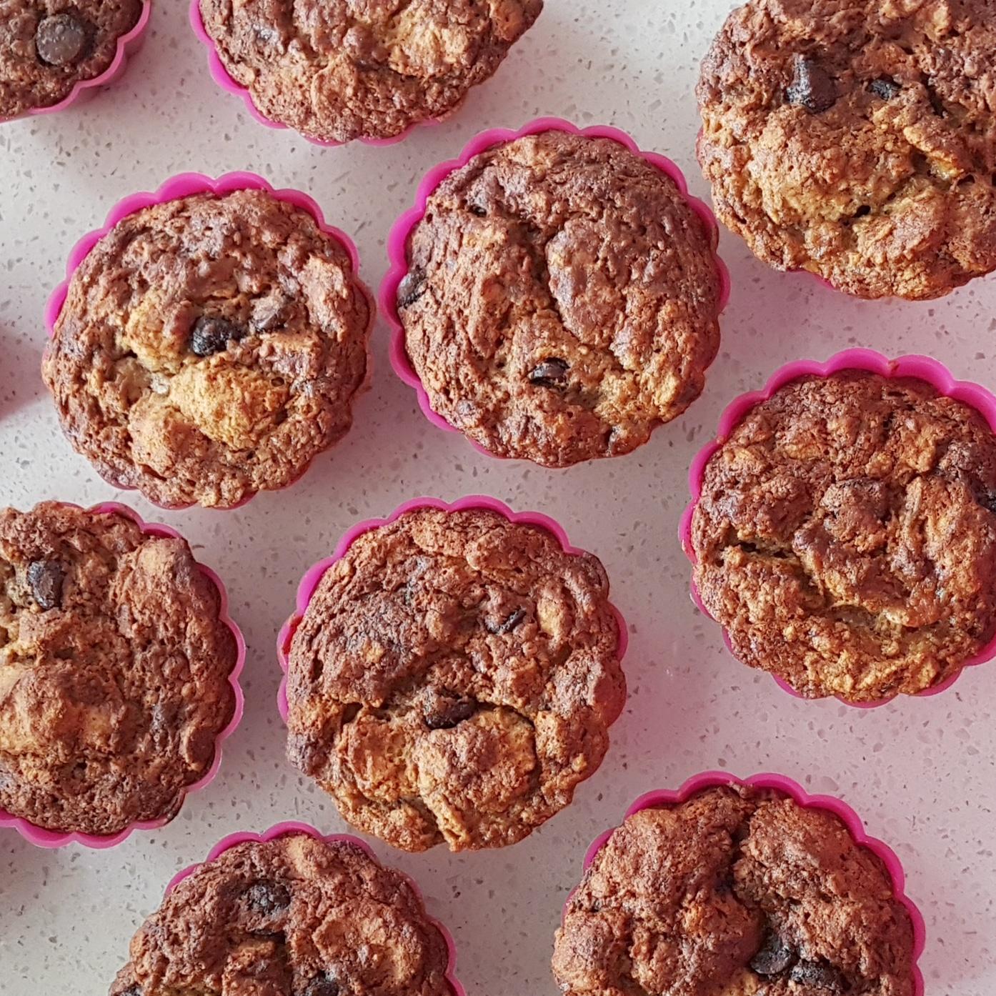 muffins-bananes-chocolat