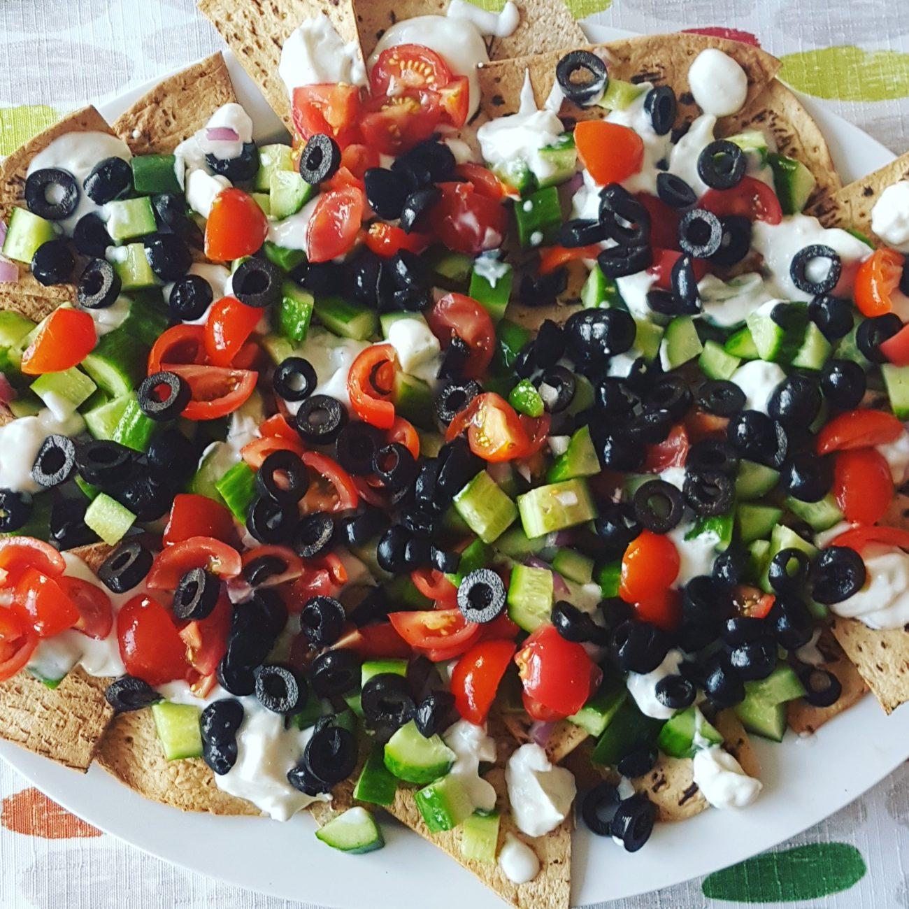 Nachos santé à la grecque