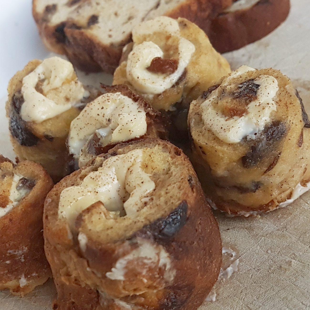 Brioches express au pain aux raisins