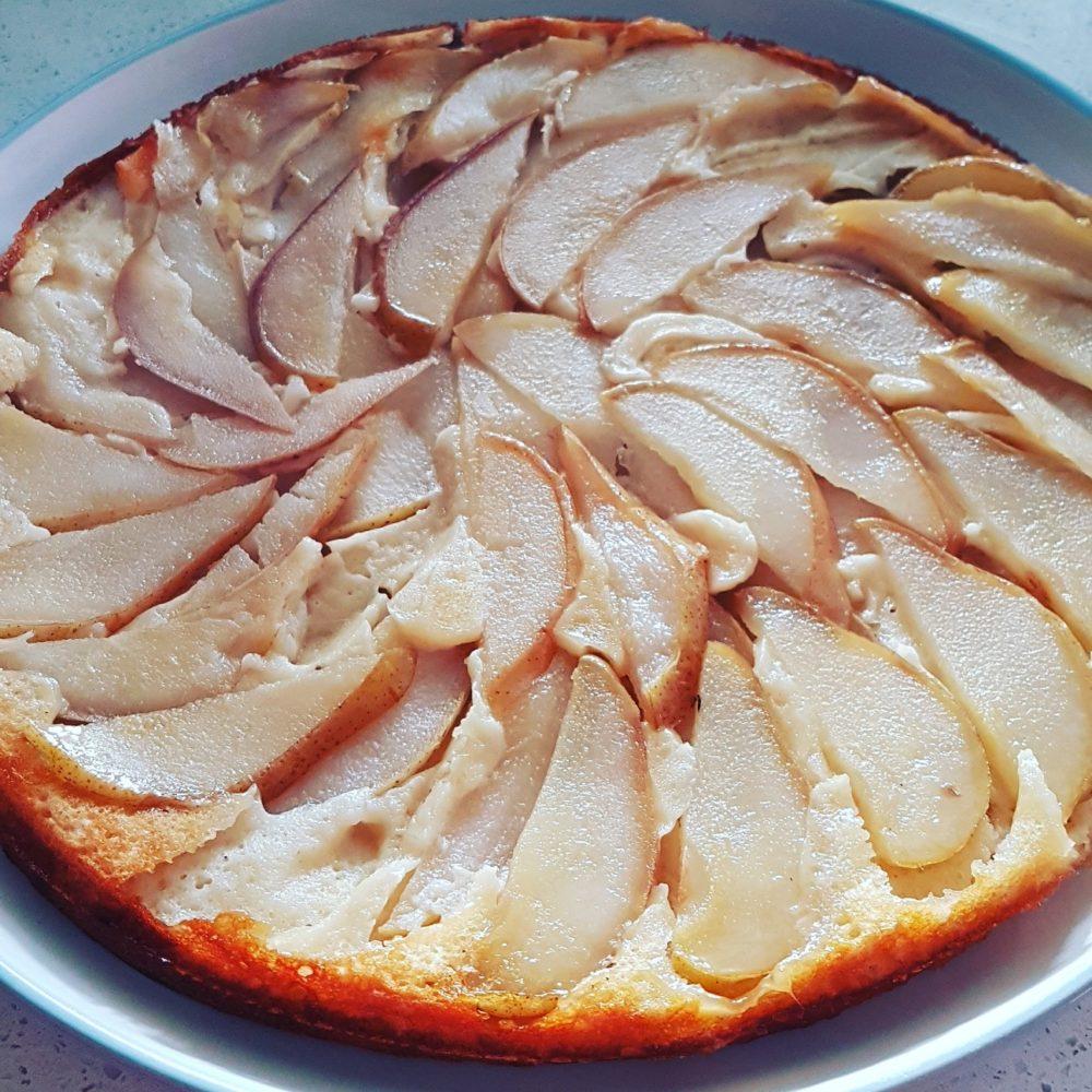 Gâteau renversé aux poires faible en calories