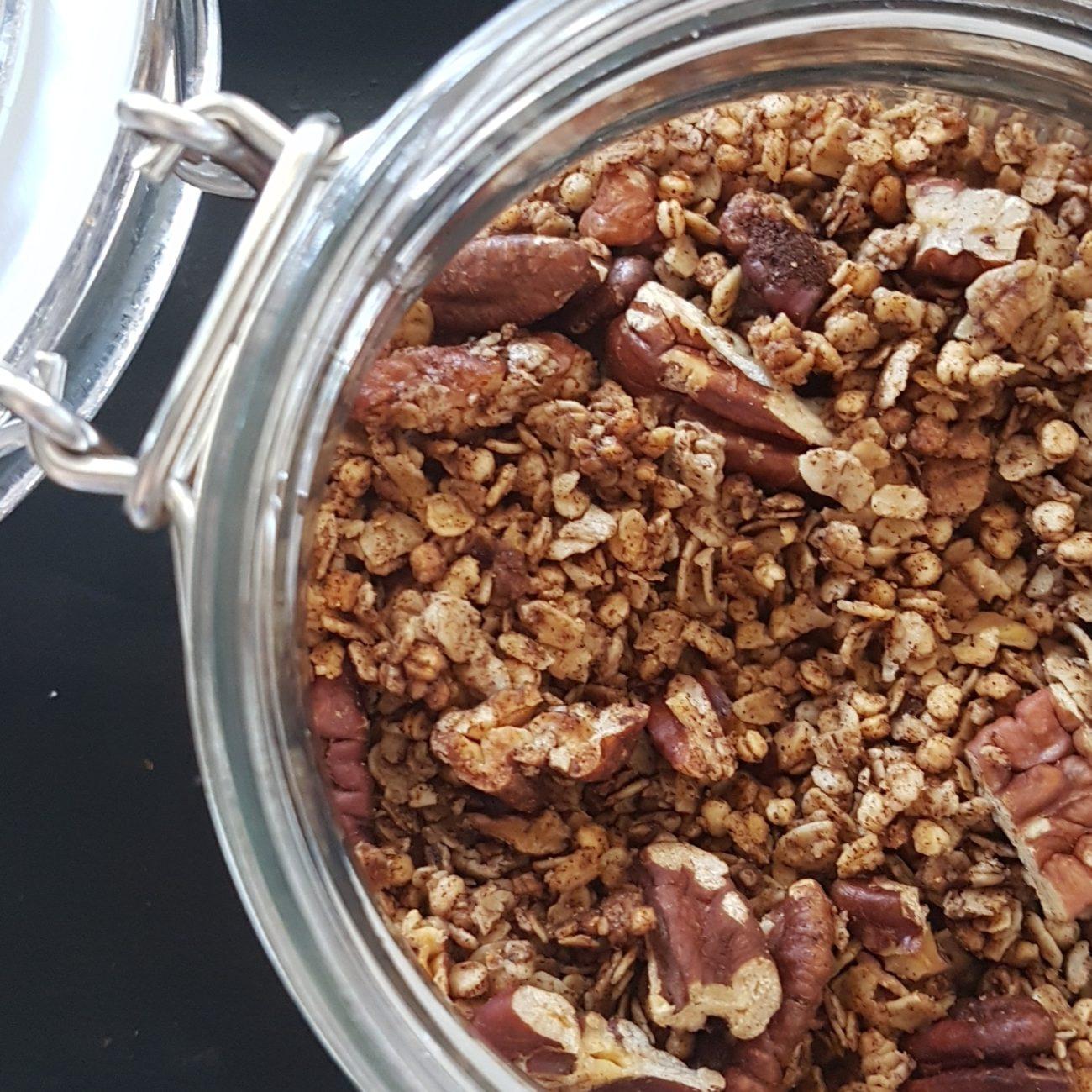 Granola maison pacanes et cannelle
