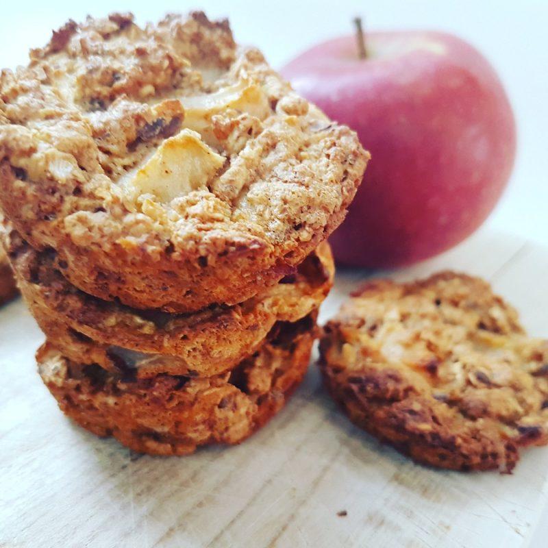 Muffins-biscuits avoine et pommes… croustillants et moelleux 2 en 1