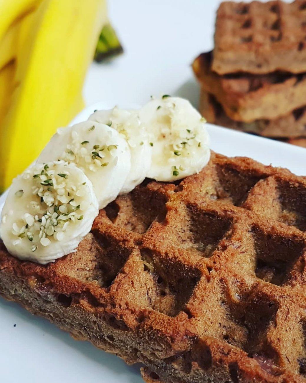 Gaufres de pain aux bananes maison