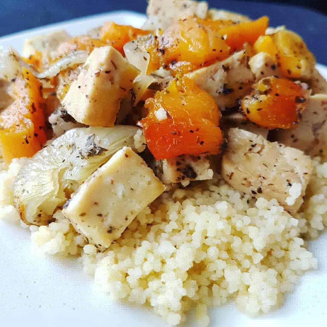 Tofu à l'abricot à la mijoteuse