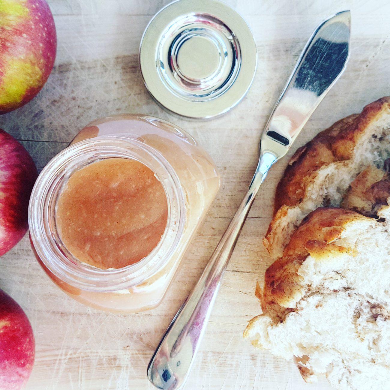 Beurre de pomme vegan sans sucre ajouté crémeux et délicieux