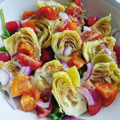 salade-dartichauts-vinaigrette-de-vin-rouge