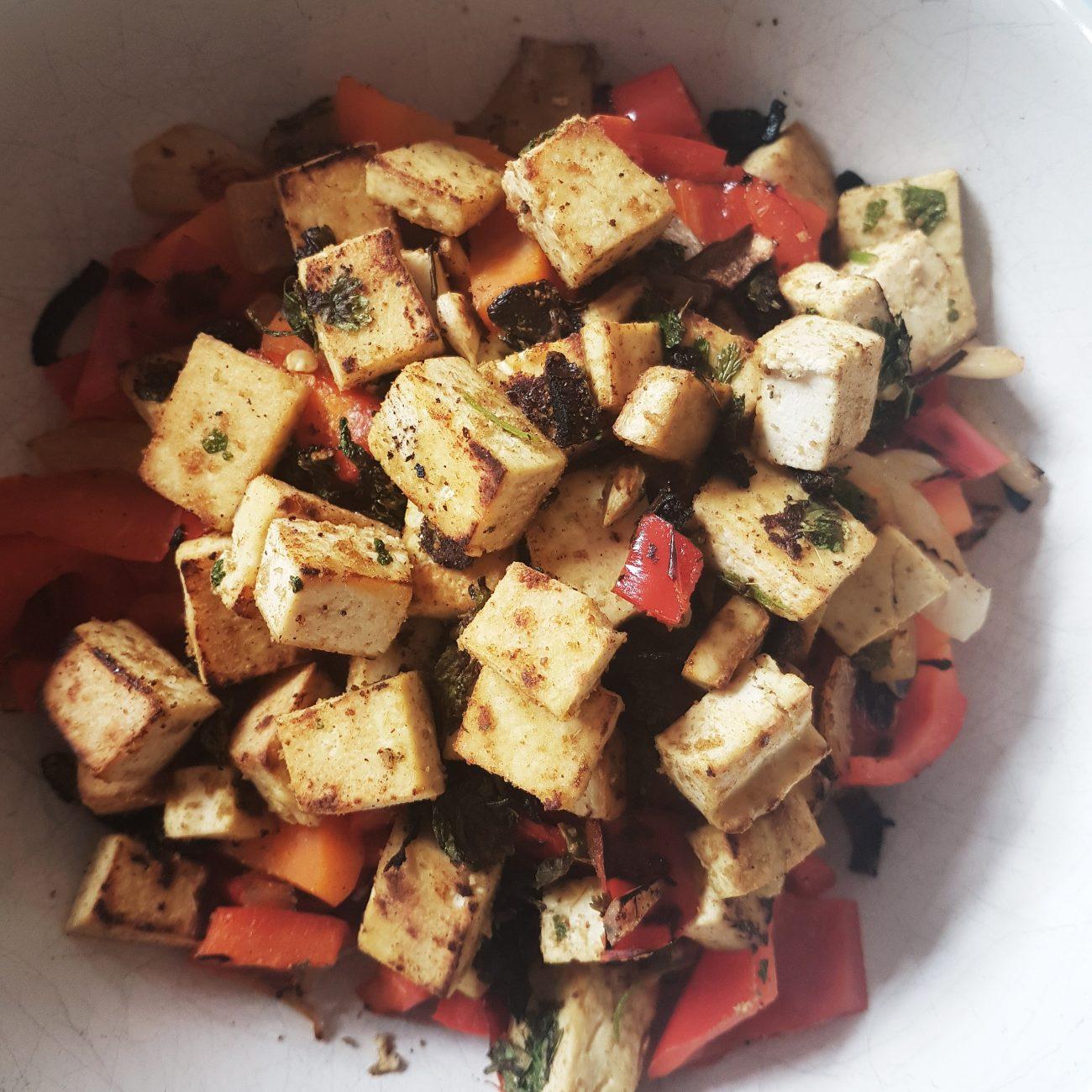 Tofu à la coriandre, au cumin et au citron