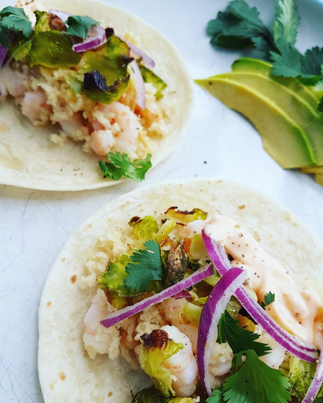 Tacos aux crevettes croustillantes