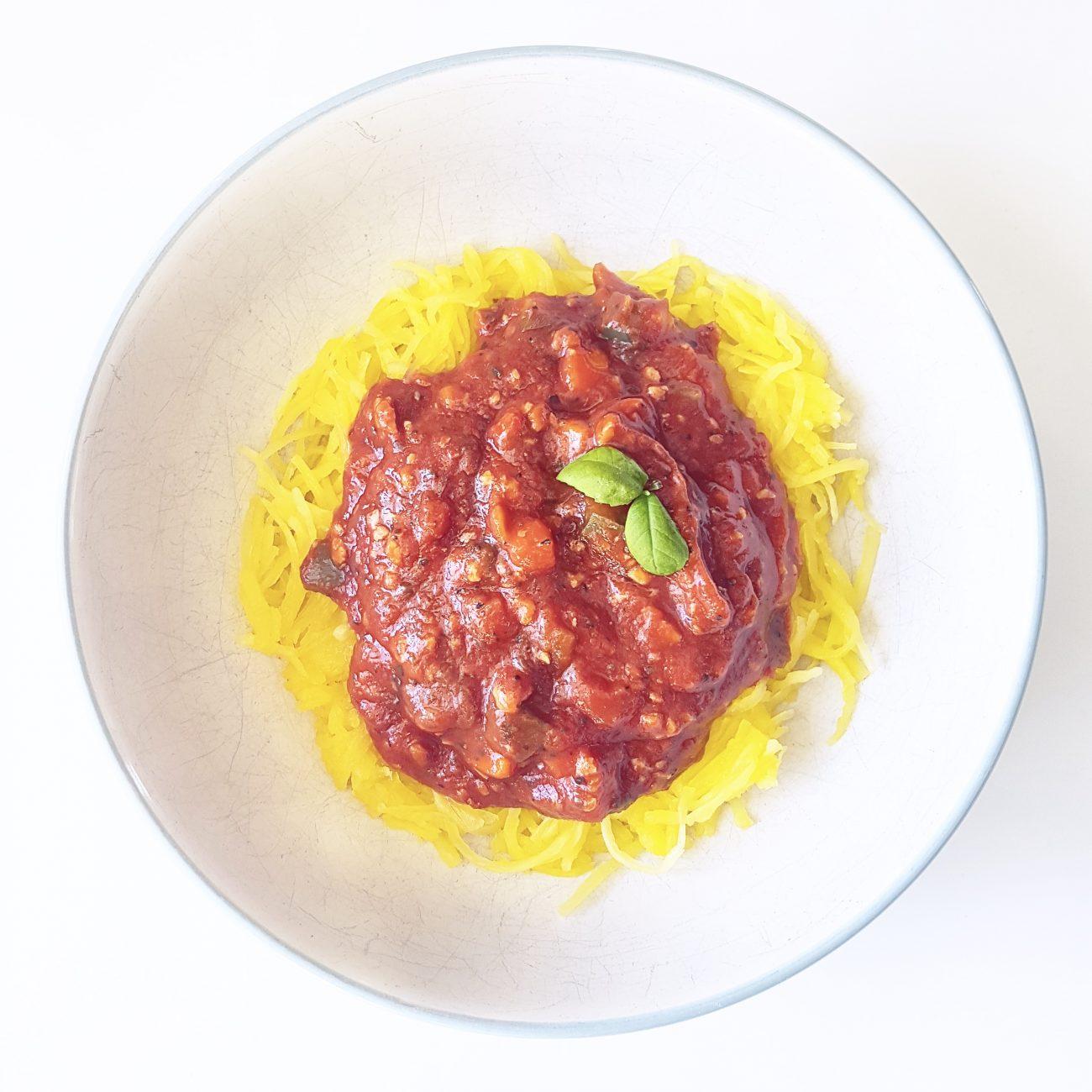 Sauce à spaghetti végétalienne à la protéine de soya