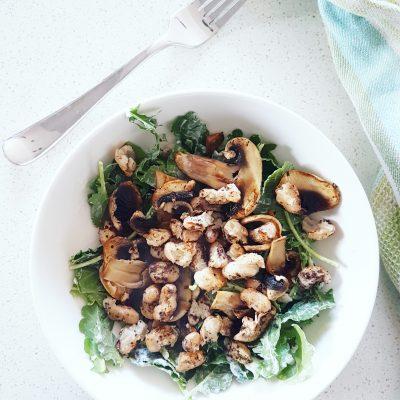 salade-cremeuse-champignonsetharicotsgrilles-raisonetgourmandise.com